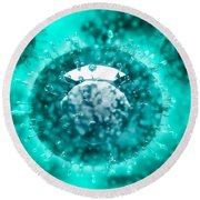 Group Of H5n1 Virus With Glassy View Round Beach Towel