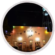 Gruene Hall Round Beach Towel