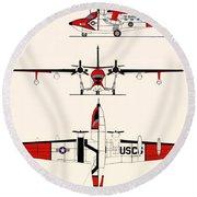 Grumman Hu-16e Albatross Round Beach Towel