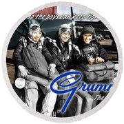 Grumman Test Pilots Round Beach Towel