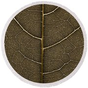 Grunge Leaf Detail Round Beach Towel by Carsten Reisinger