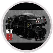 Gtr In The Rain Round Beach Towel