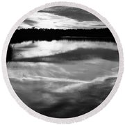 Guana Beach Reflections Round Beach Towel