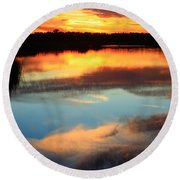 Guana River Sunset Round Beach Towel