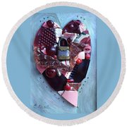 Guard Your Heart Round Beach Towel
