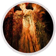 Guardian Angel Round Beach Towel by Natalie Holland