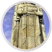 Guardian Of Traffic - 5 Round Beach Towel