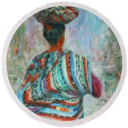 Guatemala Impression I Round Beach Towel