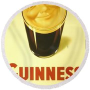 Guinness As Usual Round Beach Towel