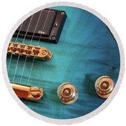 Guitar Blues Round Beach Towel