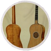 Guitar Made By Antonio Stradivarius Round Beach Towel