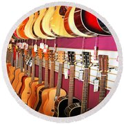 Guitars For Sale Round Beach Towel
