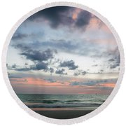 Gulf Of Mexico Sunset Round Beach Towel