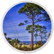 Gulf Pines Round Beach Towel