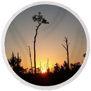 Gulf Shores Sunset Round Beach Towel