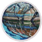 Gull Rock Round Beach Towel by Phil Chadwick