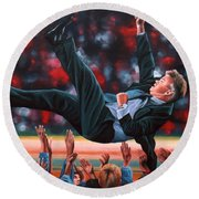 Guus Hiddink Round Beach Towel