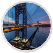 Gwb Sunrise Round Beach Towel