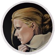 Gwyneth Paltrow Painting Round Beach Towel