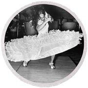 Gypsy Dancer Carmen Amaya Round Beach Towel