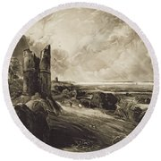 Hadleigh Castle, Engraved By David Lucas 1802-81 C.1832 Mezzotint With Etching Round Beach Towel