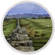 Hadrian's Wall Round Beach Towel by Mary Carol Story