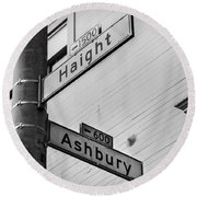 Haight And Ashbury Round Beach Towel