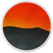 Hakarimata Sunset Round Beach Towel