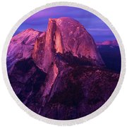 Half Dome Glow Round Beach Towel