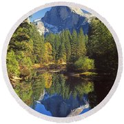 2m6709-half Dome Reflect - V Round Beach Towel