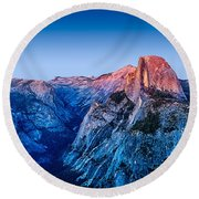 Half Dome Twilight Round Beach Towel