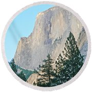 Half Dome Yosemite Round Beach Towel