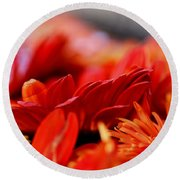 Hall Of Flame Round Beach Towel