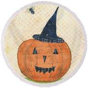Halloween II Round Beach Towel by Courtney Prahl