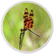 Halloween Pennant Round Beach Towel