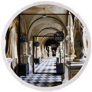 Halls Of Versailles Paris Round Beach Towel