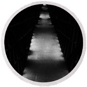 Hallway To Nowhere Round Beach Towel