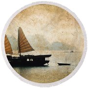 Halong Bay Vintage Round Beach Towel