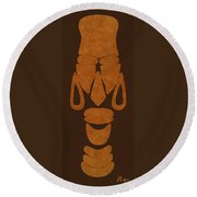 Hamite Female Round Beach Towel