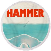 Hammer Round Beach Towel by Eric Fan