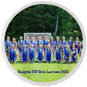 Hampton U15 Girls 2013 Round Beach Towel