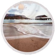 Hanalei Dawn - Kauai, Hawaii Round Beach Towel