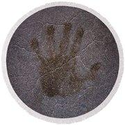 Hand Of Hope Round Beach Towel by Joel Loftus