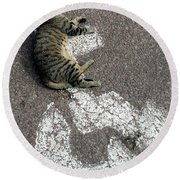 Handicat Parking Round Beach Towel