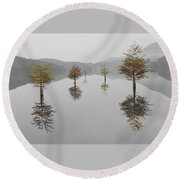 Hanging Garden Round Beach Towel by Debra and Dave Vanderlaan