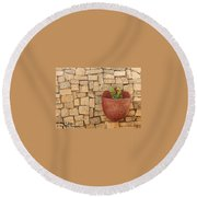 Hanging In There Round Beach Towel