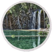 Hanging Lake Round Beach Towel