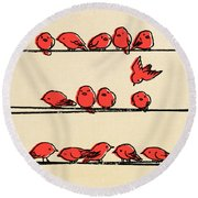 Hanging Out Round Beach Towel