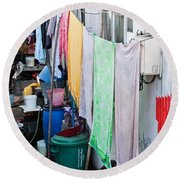Hanging Towels Round Beach Towel