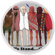 Nous Sommes Charlie Round Beach Towel